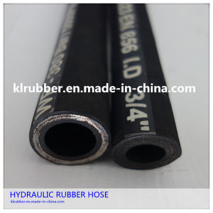 """En853 1sn/SAE R1 at 1/2"""" Steel Wire Braided Rubber Hydraulic Hose pictures & photos"""