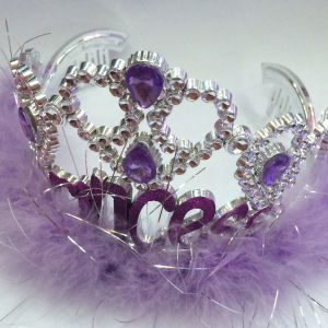 New Plastic Fairy Blinking Metallic Princess Tiara Crown pictures & photos