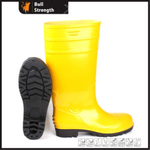 Yellow PVC Upper Safety Rain Boot with Steel Toe (SN5125) pictures & photos