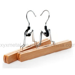Wholesale Wooden Pants Trousers Skirt Natural Wood Clamp Hanger pictures & photos