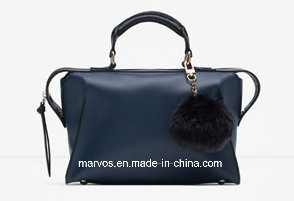 Mini Bowling Bag Real Leather Handbag
