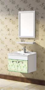 New Style Aluminum Bathroom Cabinet with Mirror (T-9712) pictures & photos