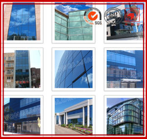 Frame-Less Glass Curtain Wall Cladding in Wave pictures & photos