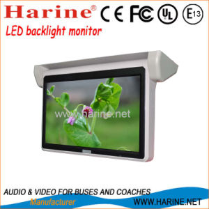 18.5 Inch Front and Back Flip Motorized Bus LCD Monitor pictures & photos