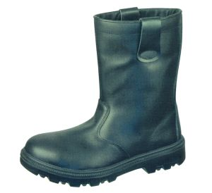 Quality Cow Leather Black Safety Boots pictures & photos