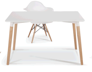 Round MDF Top Eames Meeting Table pictures & photos