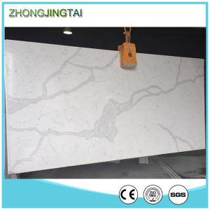 Amazing Calacatta White Quartz Engineered Stone Polished Honed pictures & photos