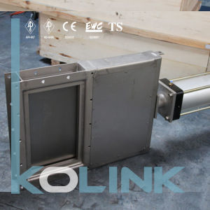 Pneumatic Square Guillotine Valve Fabricated Knife Gate Valve