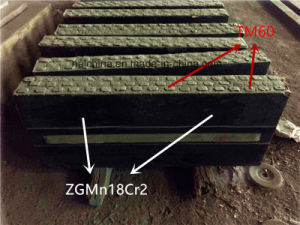 High Manganese Steel Inlaid Tungsten Carbide Blow Bar for Impact Crusher