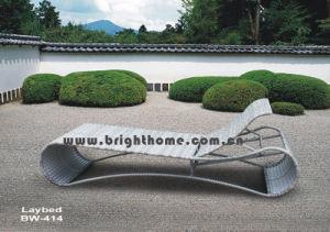 PE Rattan Wicker Sun Lounge Furniture pictures & photos