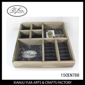 Wooden Square Jewelry Display Try Box Handmade Factory Custom