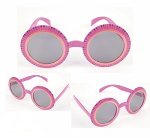 Party Sunglasses with Pink Circle Design