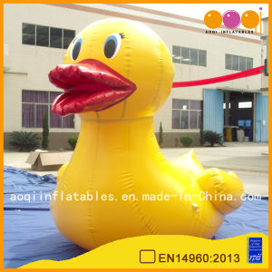 Water Play Equipment Sealed Water Game Yellow Inflatable Duck (AQ3533-1) pictures & photos
