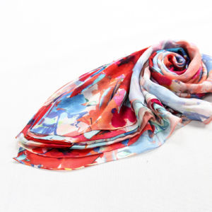 Custom Colorful Silk Crepe Georgette X-Large Beach Dress Scarf pictures & photos
