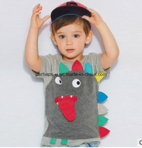 High Quality Cute Animal Printing Baby Boys T-Shirt Children Wear pictures & photos