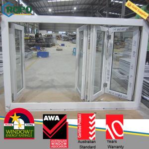 White Color Multiple UPVC Folding Windows with Siegenia-Aubi Hardware pictures & photos