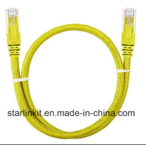 UTP Cat5e 1.5 FT (0.5 meters) Patch Cord Yellow pictures & photos