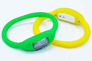 Candy Color Waterproof Silicone Ion Watch Band Wrist Band pictures & photos