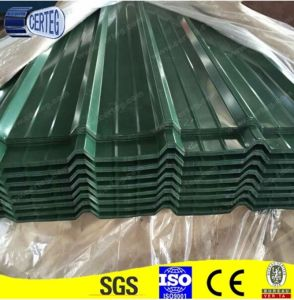 Dark green color PVDF film steel roofing sheet pictures & photos