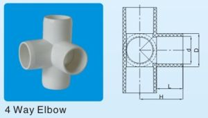 astm sch40 fittings pvcu 3 way elbow