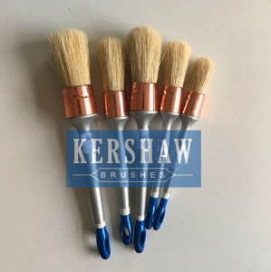 Round Brush (Paintbrush with pure white bristle and plastic handle, round brush) pictures & photos