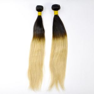 "14"" Straight Ombre Human Hair Weft pictures & photos"