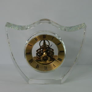 Chinese Fengshui Crystal Clock for Decoration pictures & photos