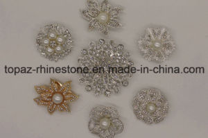 Customized Rhinestone Flower Jewelry Brooch for Garment (TB007) pictures & photos