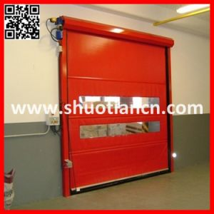 Motorized Fabric Industrial Roll up Shutter (ST-001) pictures & photos