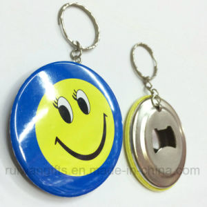 Custom Round Opener Keyring with Logo for Promotional Gifts pictures & photos