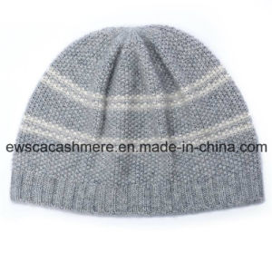 Women′s Top Grade Pure Cashmere Hat with Stripes A16wa4-001 pictures & photos