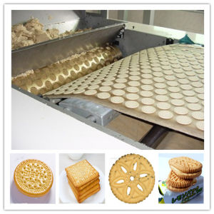 High Efficient Gas Sandwich Biscuit Making Machine pictures & photos
