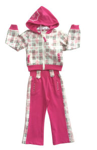 Fashion Girl Fleece Suit in Children Clothing Sport Wear (SWG-119)