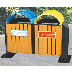 108L Wooden Segregated Waste Bins for Sale pictures & photos