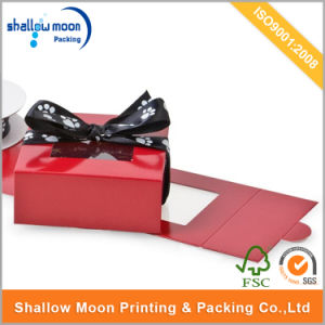 Ribbon Closure Gift Packaging Box with PVC Window (AZ122520) pictures & photos