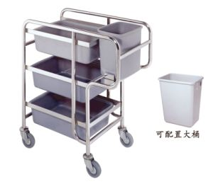 Stainless Steel Dish Collection Trolley with Plastic Basket (C-23) pictures & photos