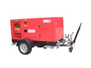 Guangzhou 25kVA/20kw Diesel Soundproof Trailer Generator with Cummins Engine