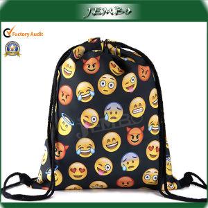 Polyester Emoji Printing Drawstring Backpack Bag pictures & photos