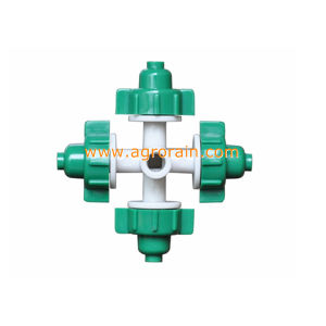Raw Material POM Bridgeless Design Four Outlet Fogger Super Fine Mister Green