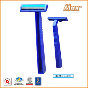 Twin Stainless Steel Blade Disposable Razor for Man (LY-2083) pictures & photos