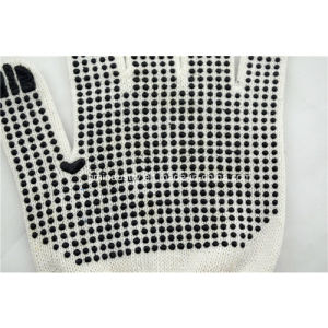 10 Gauge Knitted Safety Work Glove with PVC Dots pictures & photos
