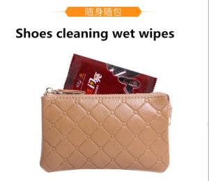 Shoes Cleaning Leather Cleaning Wet Wipe 1 Piece pictures & photos