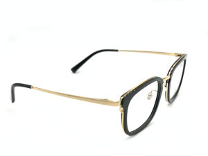 Metal Acetate Wraped Eyewear Unique Spectacles Eyeglasses Optical Frames pictures & photos