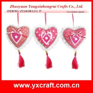 Valentine Decoration (ZY11S338-1-2-3) Heart Pillow Gift Ornament Craft Item pictures & photos