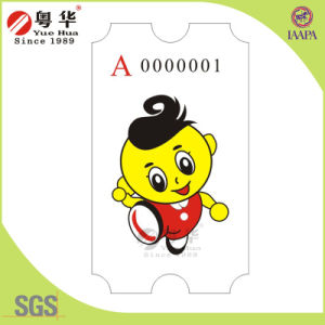 Lottery Game Machine Ticket, Raffle Ticket for Arcade Redemption Games, Serial Numbering Tickets pictures & photos