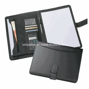 Non Zip A4 Padfolio Leather for Business pictures & photos