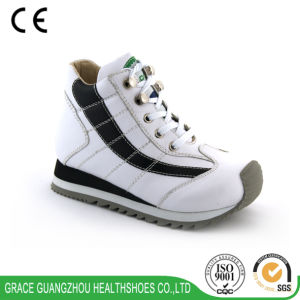 Grace Ortho Children Black & White Running Shoe (4612174-2) pictures & photos