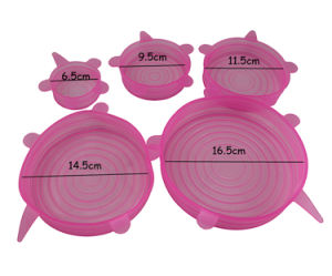 Flexible 8 Sets Silicone Stretch Lid for Bowl, Cup, Vegetable pictures & photos