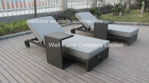 Garden-Furniture-Rattan-Sun-Loungers-and-Sofas with Coffee Table/Rattan Chaise Lounge pictures & photos