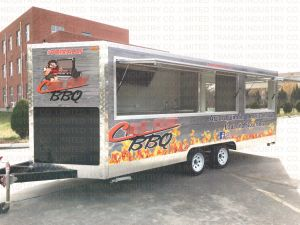 Vending Ice Cream Mobile Snack Trailer with Canopy pictures & photos
